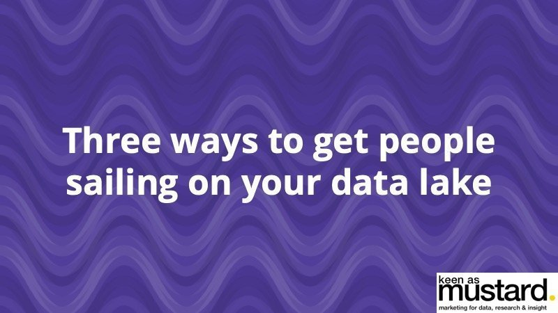 3 ways to get people sailing on your data lake - Insight Platforms