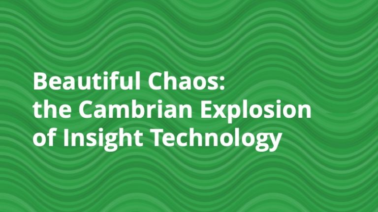 Beautiful Chaos - the Cambrian Explosion of Insight Technology
