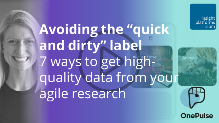 Avoiding the quick and dirty label OnePulse