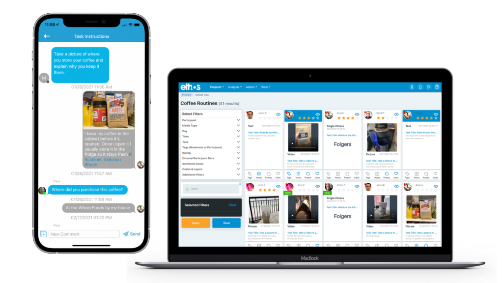 EthosApp Chat Probe and Researcher Dashboard - Insight Platforms