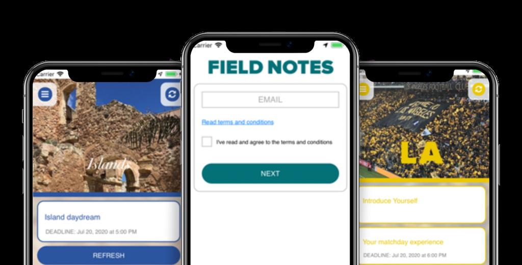Field Notes Screenshot
