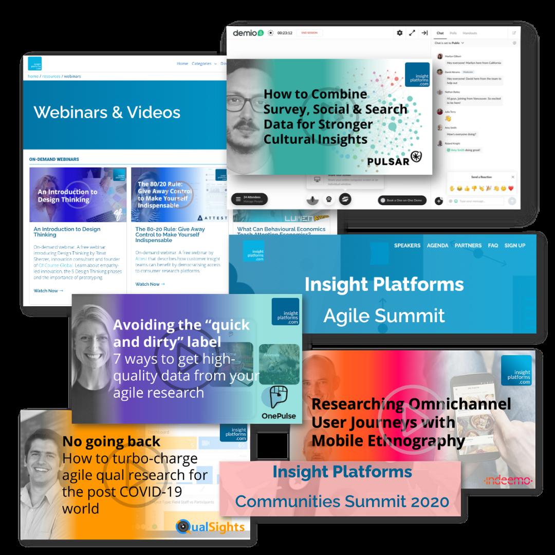 Insight Platforms Webinar & Summit Opportunities