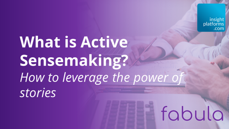 What is Active Sensemaking? How to leverage the power of stories
