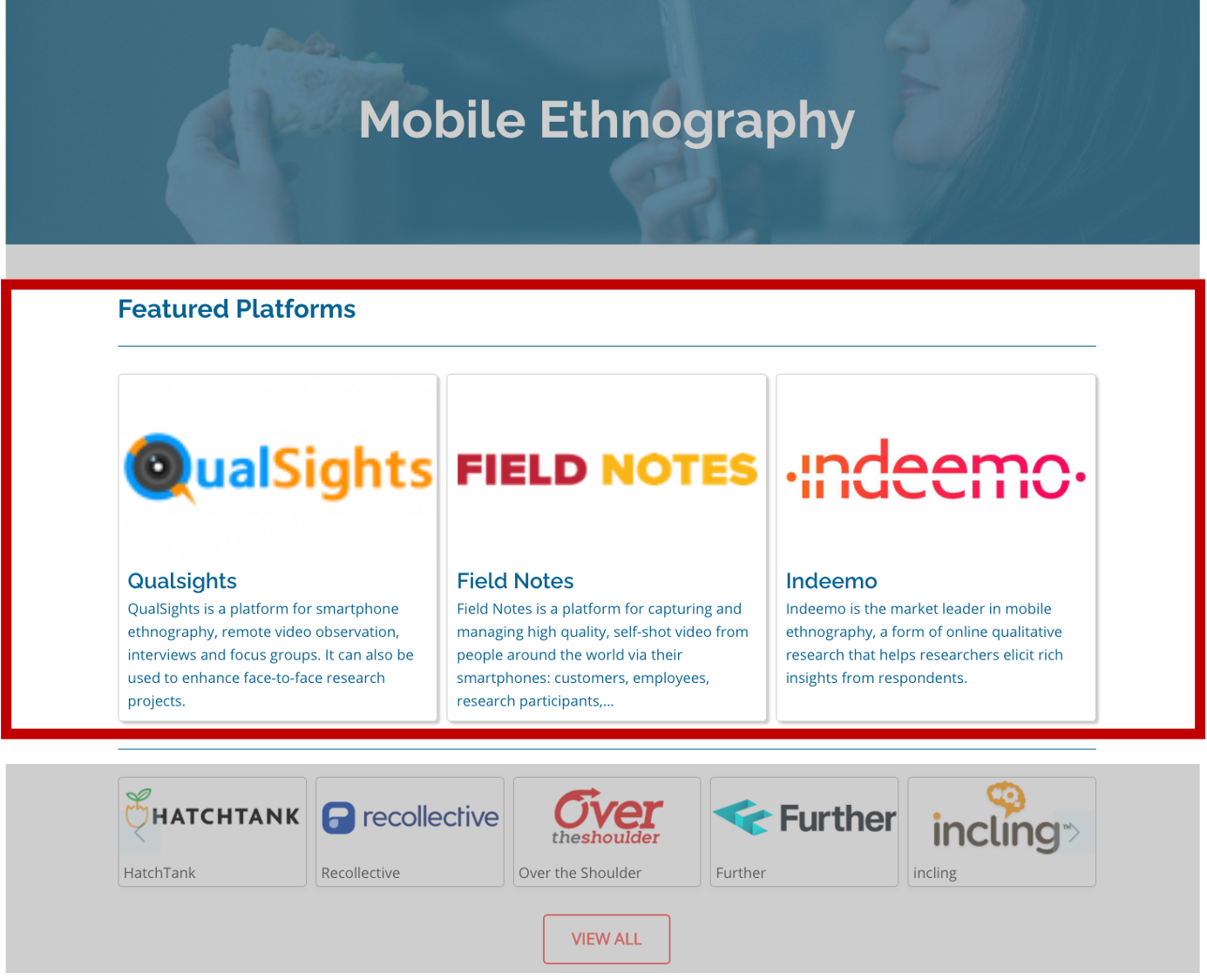 Category Page Prime Position - Insight Platforms