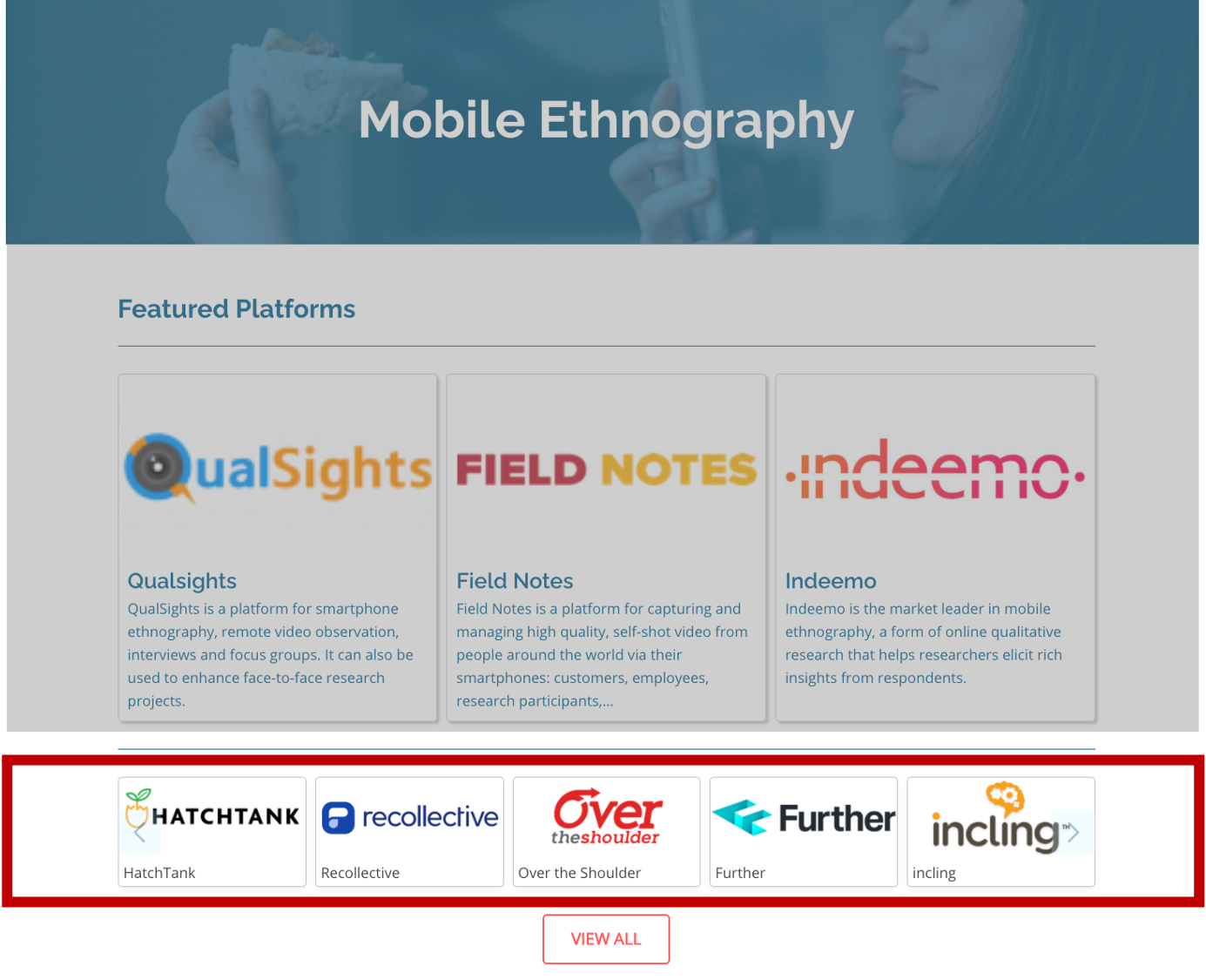 Category Page Secondary Position - Insight Platforms
