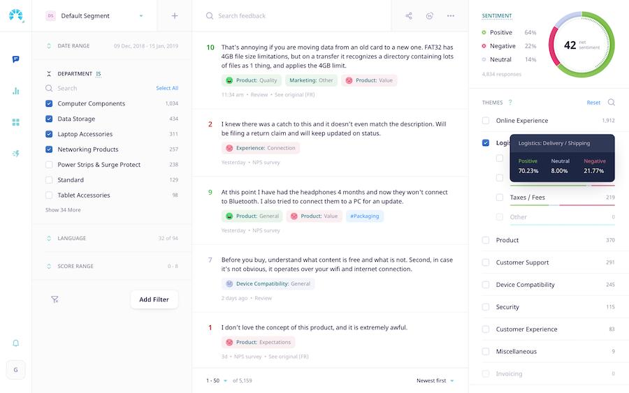 Chattermill Screenshot - Insight Platforms