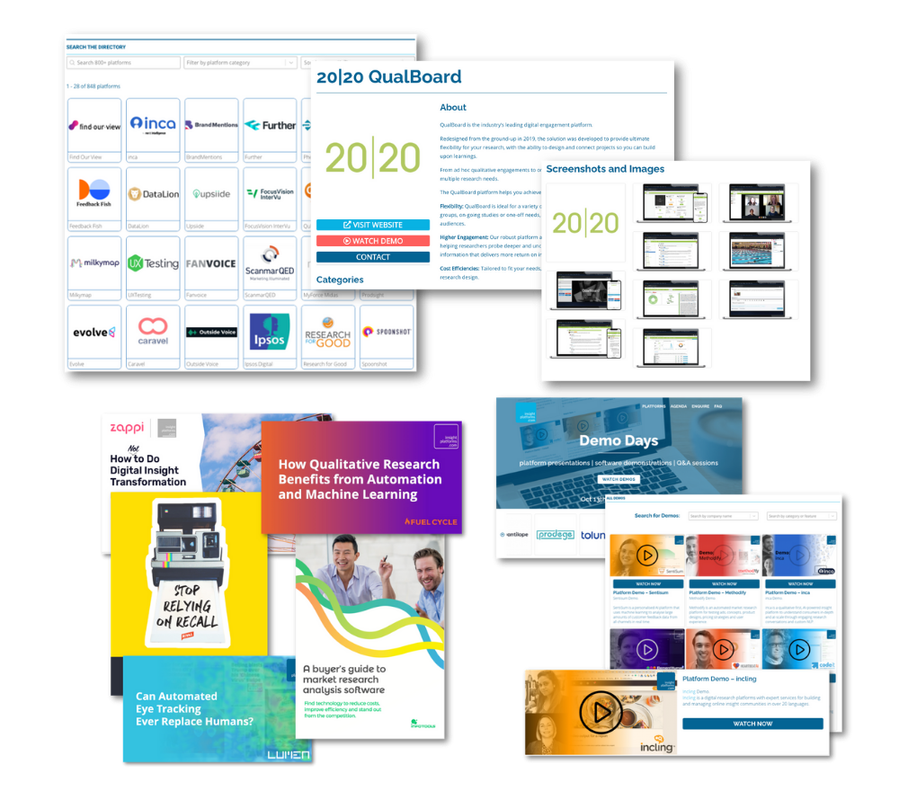 Insight Platforms Directory and Learning Materials