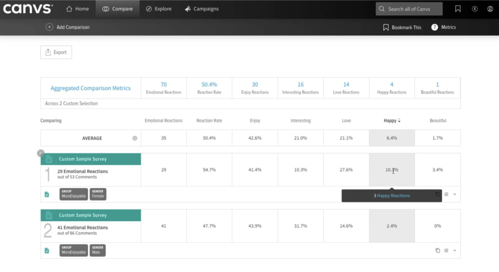 Canvs Screenshot - Insight Platforms