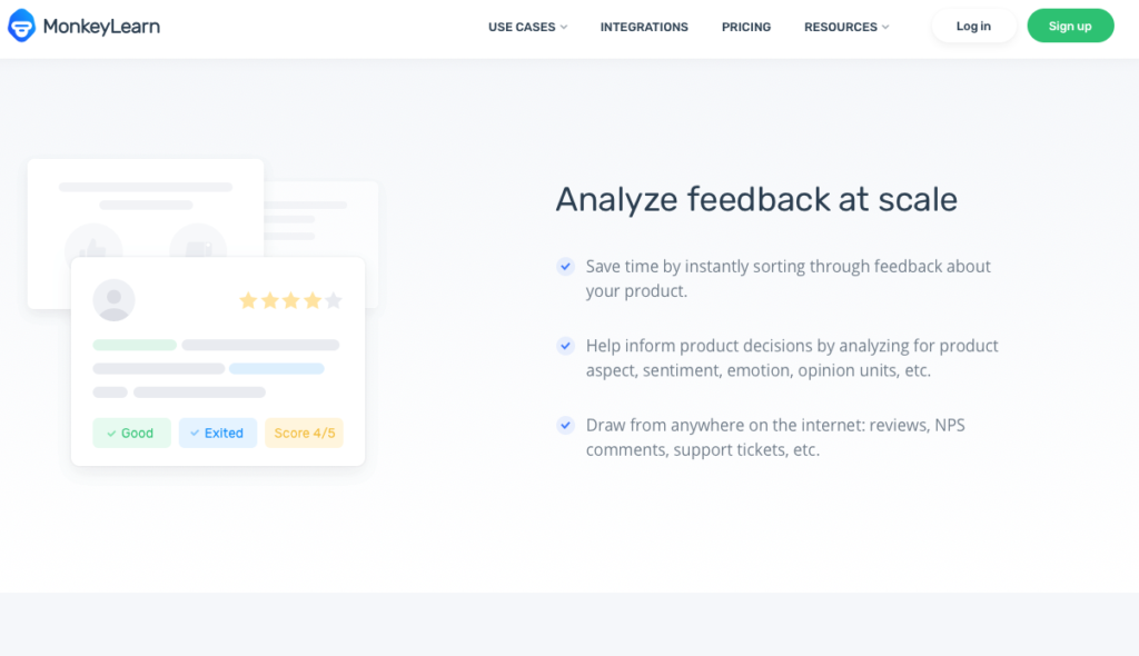 MonkeyLearn Screenshot - Insight Platforms