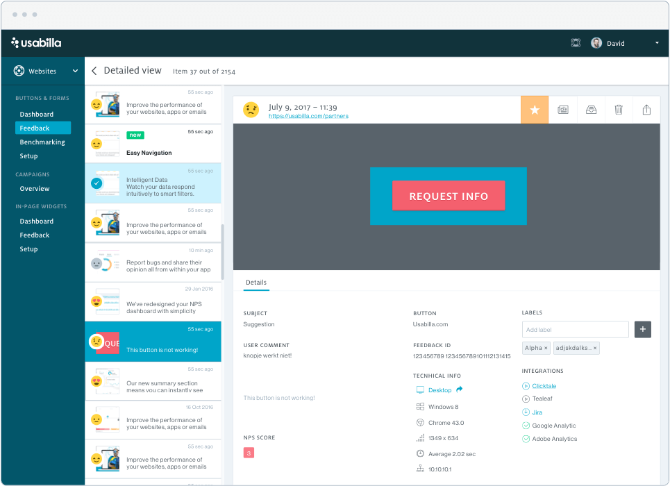 Usabilla Screenshot - Insight Platforms