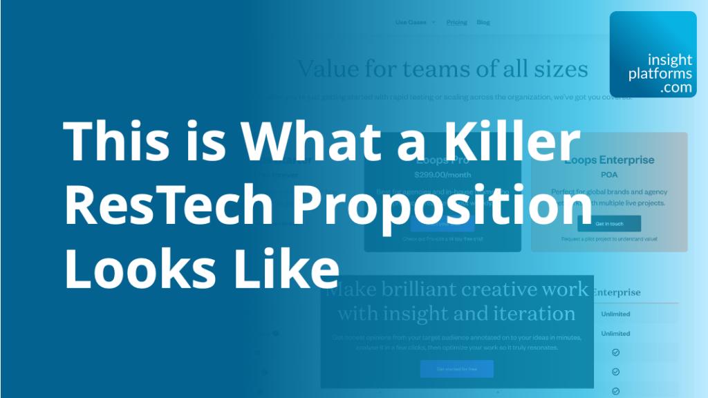 Killer ResTech Proposition - Featured Image - Insight Platforms