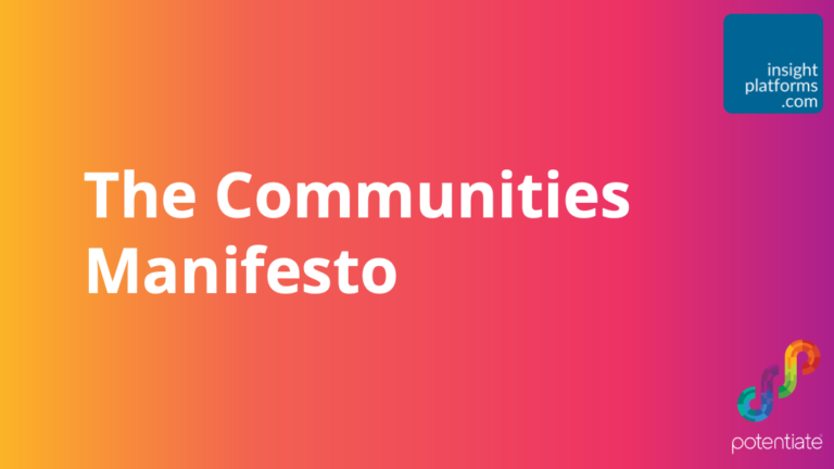 Communities Manifesto Ebook Potentiate - Insight Platforms